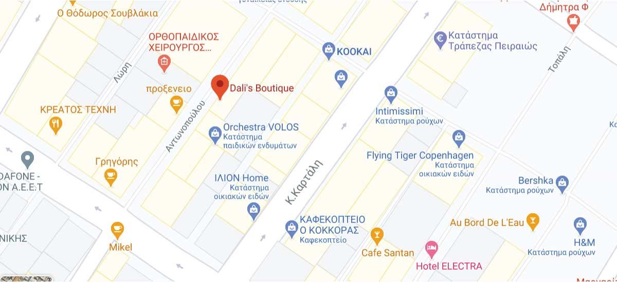 Dalis Boutique Map Image